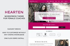 Hearten - Coach WordPress Theme  by AthenaThemes on @creativemarket