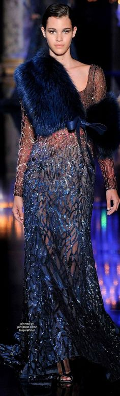 Fall 2014 Couture Elie Saab blue