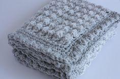 Grey and cream handmade extra thickness crochet by KnacketyGael | Etsy $43.60