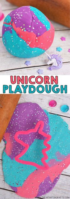 Make your own Homemade Unicorn Playdough! This colorful and glittery no cook playdough is the softest and last for months! Make your own Homemade Unicorn Playdough! This colorful and glittery no cook playdough is the softest and last for months! Neon Crafts, Crafts To Make, Crafts For Kids, Arts And Crafts, Cooked Playdough, Homemade Playdough, Make Your Own Playdough, Unicorn Birthday Parties, Unicorn Party