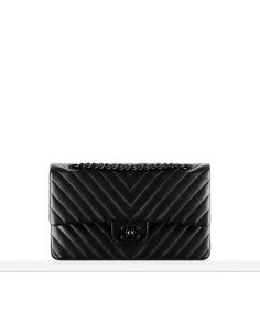 Lambskin chevron quilting classic... - CHANEL