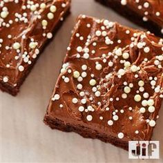 Chocolate Peanut Butter Frosted Brownies from Jif® Peanut Butter Frosted Brownies, Chocolate Peanut Butter Frosting, Whipped Peanut Butter, Peanut Butter Muffins, Brownie Frosting, Chocolate Fudge Brownies, Coconut Peanut Butter, Chocolate Flavors, Craving Chocolate