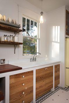 Serena's Kitchen vintage drainboard sink; by Hello Kitchen; photo by Whit Preston