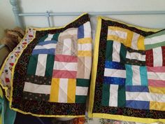 Best Wishes Quilts with white spaces for personal messages.