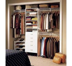 Closet Designs Ideas seamless transition Reach In For Small Space Home And Garden Design Ideas