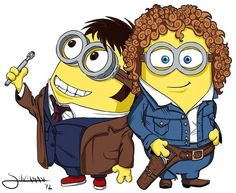 The Doctor and River Song minions. Just take a moment to breathe this in.