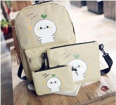 QZH 2017 Printing Backpacks Set Women Canvas Cartoon Prints Candy Color Cute Children School Bags For Teenage Girls Gifts - nimivo sites Birthday Presents For Teens, Teen Presents, Gifts For Teen Boys, Teenage Girl Gifts, Presents For Women, Gift Sets For Women, Teenager Stocking Stuffers, Girls Weekend Gifts, Teen Girl Birthday