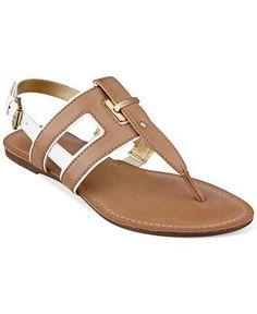 Tommy Hilfiger Women's Lynnie Flat Thong Sandals - Shoes - Macy's