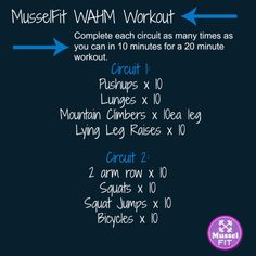 Advantage of At-Home Workouts Mussel FIT