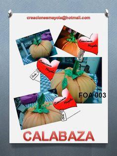 CALABAZA, http://creacionesmayola.blogspot.com.es/