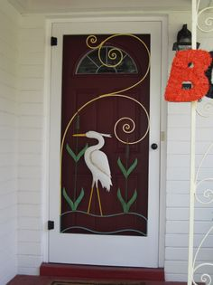 Beau Custom Screen Door To Fit A Historic Metal Insert By  HistoricShed.com. Reminds Me Of The Cranes/herons In NE Florida. Right In  Our Own Backyard:)