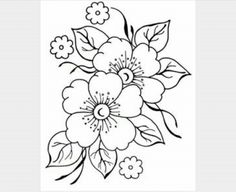 pergamano - Page 2 - Embroidery flower patterns – Imagui: - Embroidery Designs, Ribbon Embroidery, Embroidery Stitches, Machine Embroidery, Brush Embroidery, Colouring Pages, Adult Coloring Pages, Coloring Books, Free Coloring