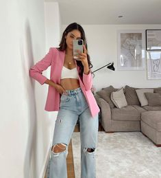 Cute Casual Outfits, New Outfits, Stylish Outfits, Spring Outfits, Fashion Outfits, Style Fashion, Look Blazer, Swagg, Daily Fashion