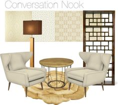 """""""conversation nook"""" by cfromson on Polyvore"""