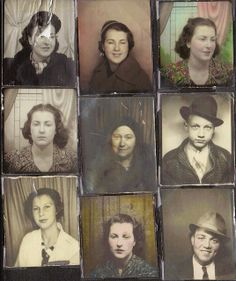 Vintage Photo Booth ... Thinking fedoras, fez, hats of all sorts plus other vintage gear