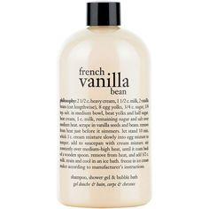 PHILOSOPHY French Vanilla Bean Ice Cream Shower Gel found on Polyvore