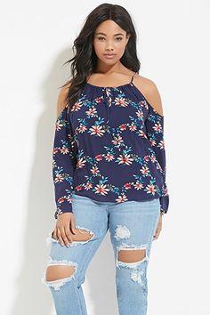 Tallas Extra - Blusa floral hombros descubiertos | Forever 21 Plus - 2000185135