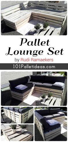DIY Pallet Lounge Furniture Set | 101 Pallet Ideas