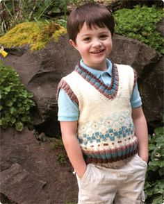 Boy's Fair Isle Vest