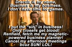 Dracula spent his second episode focusing on the growth of his business empire, making an important hire, and killing someone. Dracula Season 1, Dracula 2013, Community Tv, I Dont Have Time, Business Planner, Counting, Thats Not My, Names