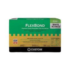 Give a classy look to your living space by applying this Custom Building Products FlexBond White Crack Prevention Mortar. Resists mold and mildew. Ceramic Wall Tiles, Mosaic Wall, Plywood Subfloor, Large Format Tile, Thin Brick, Tile Installation, Decorative Tile, Marble Vanity Tops, Building Products