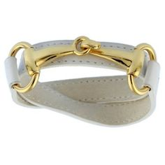 Check out this item at One Kings Lane! Derby Leather Bracelet, White