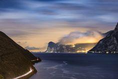 A long night on Lake Garda. - A long exposure taken from Torbole sul Garda, on Lake Garda, Italy during a windy night.