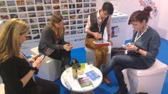Blogging and tasting typical food and wine from Puglia at #WTM13 with @Dylan Lowe @Val Bromann @Independent Travel Help @UK Travel Room @The Travel Tester | Nienke Krook  #WeAreinPuglia