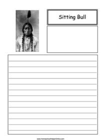 Sitting Bull was a Lakota leader known for his involvement in the Battle of Little Bighorn and performing in Buffalo Bill's Wild West Show. You can write about his life in this free Sitting Bull notebooking page. History Lesson Plans, World History Lessons, Battle Of Little Bighorn, Curriculum, Homeschool, Sitting Bull, Wild West, Social Studies, American History
