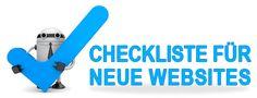 Checkliste für eine neue Webseite