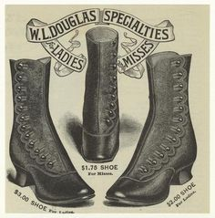 I'd wear those today. vintage victorian shoes                                                                                                                                                                                 Más