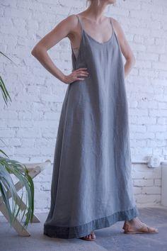 Slate Linen Maxi