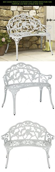 Best Choice Products Outdoor Patio Garden Bench Park Yard Furniture Cast Iron Antique Rose White #camera #parts #fpv #gadgets #furniture #bench #racing #patio #tech #kit #technology #products #drone #shopping #plans