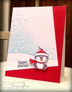 Dee's Art Utopia: Christmas Card Spree {Purple Onion Designs Stamps} (on Christmas + POD)