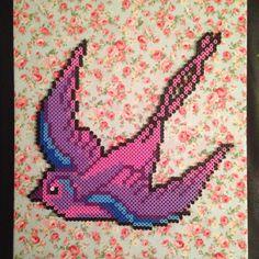 Bird hama perler beads by vixxi89