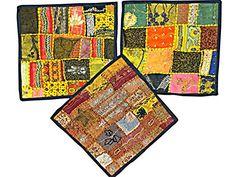 3 Indian Pillow Cover Sari Pillowcases Patchwork Embroidered Cushion Cover Home Decor Mogul Interior http://www.amazon.com/dp/B00VJRHI7Q/ref=cm_sw_r_pi_dp_vxFhvb033C6F6