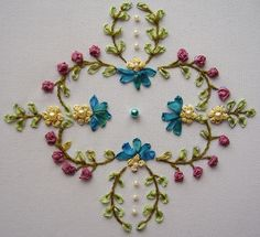 Pattern in SRE | I embroidered in silk ribbon from a transfe… | Flickr
