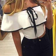 Blusas Mujer Limonni Li137 Campesinas  - $ 84.900 en Mercado Libre Cool Outfits, Fashion Outfits, Romper Outfit, Fashion Sewing, Cami Tops, Cool Shirts, Corset, Casual, Fashion Beauty