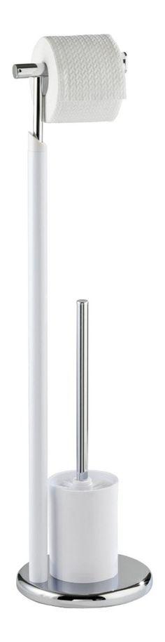 Stojak na papier toaletowy i szczotkę do WC, WHITE - 2 w 1, WENKO