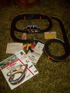 1976 Aurora AFX Slot Car Set Track
