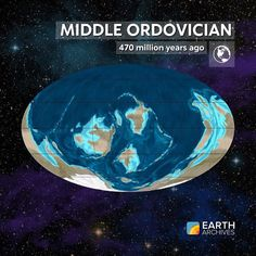 By the Middle Ordovician 470 million years ago life on Earth experienced a dramatic evolutionary radiation and the first jawless fishes arose. Having experienced a major extinction at the end of the Cambrian trilobites rebounded and reamained abundant and
