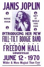 Janis Joplin Freedom Hall Concert Poster - Wilder and More Magical Than Ever…