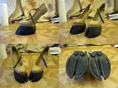 How to make hoof shoes