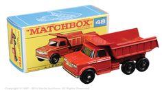 Matchbox Regular Wheels No.48c Dodge Kew Fargo Dump Truck.