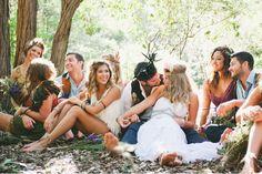 Gypsy Inspired Backyard Wedding: