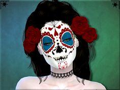 sims-addictions:  Sims 4 Dia De Los Muertos costume makeup . Happy Halloween! DOWNLOAD