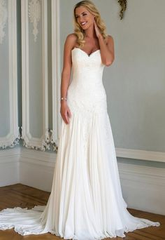 Romantic Fit and Flare Wedding Dress by Augusta Jones