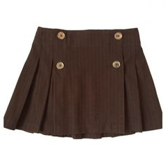 Brown Cotton Skirt BURBERRY (53 CAD) ❤ liked on Polyvore featuring skirts, bottoms, brown knee length skirt, burberry skirt, burberry, brown cotton skirt and cotton skirts