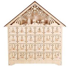Gisela Graham wooden fretwork light-up Advent house