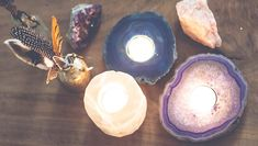 We've just added some seriously gorgeous new crystal candle holders to the shop! We love the way these beauties glow when they're all lit up, not to mention the Tea Light Candles, Tea Lights, Feng Shui Candles, Bohemian Room, Meditation Space, Stones And Crystals, Healing Crystals, Beautiful Roses, Beautiful Things